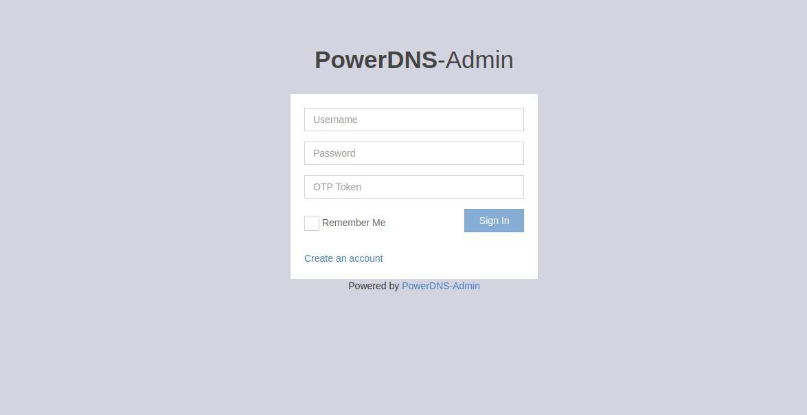 powerdns-admin-gui
