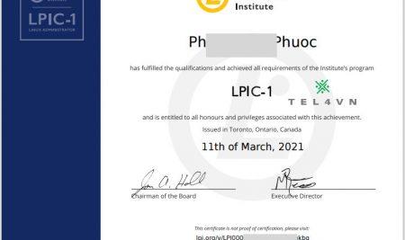 Chúc mừng học viên TEL4VN đạt chứng chỉ quốc tế Linux LPIC-1 tháng 03-2021
