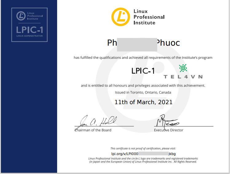chứng chỉ quốc tế Linux LPIC