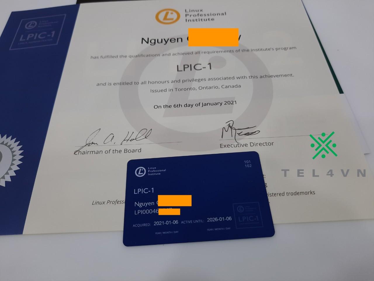 bóc tem chứng chỉ quốc tế Linux LPI