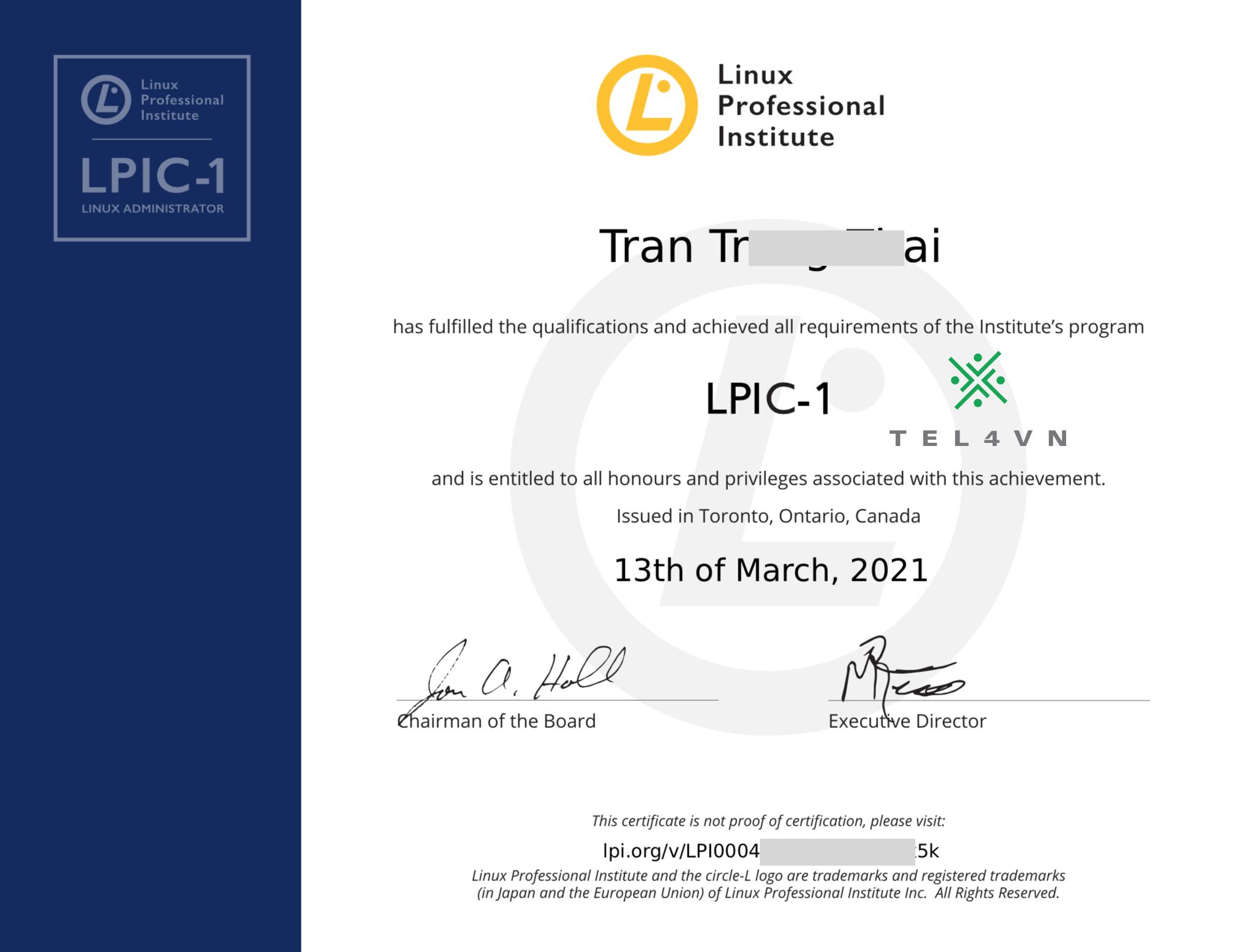 chứng chỉ linux lpi