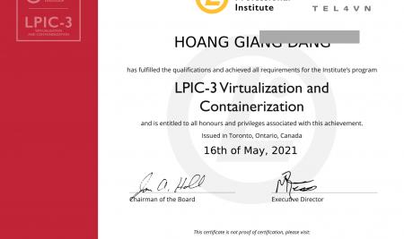 Chúc mừng giảng viên TEL4VN đạt chứng chỉ quốc tế Linux LPIC-3 phiên bản 3.0