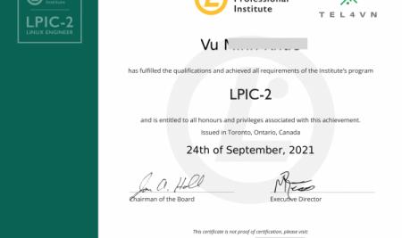 Chúc  mừng học viên VNPT, Viettel thi đậu chứng chỉ Linux LPIC tháng 09/2021
